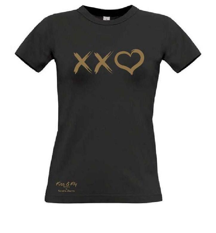 44b4864619c3a ... Camiseta básica negra dorada Kiss Fly Solidary (1) ...